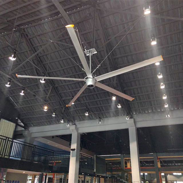 2.4m Industrial Giant Ceiling Fan 8 Ft Restaurant Ceiling Fans With Aluminum Alloy Blades